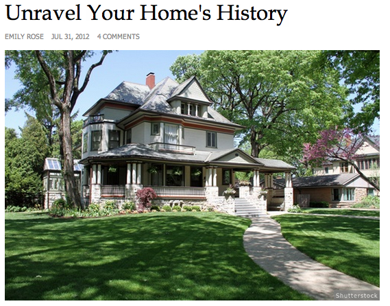 home history, historic home, home history book, historic bed and breakfasts