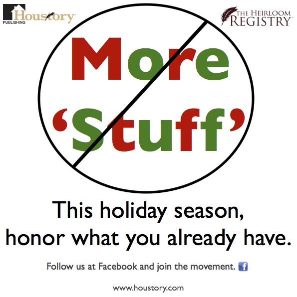 consumerism, consumer culture, houstory, heirloom registry, shopping, holidays