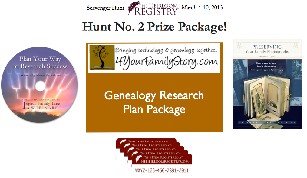 heirloom registry, scavenger hunt, houstory
