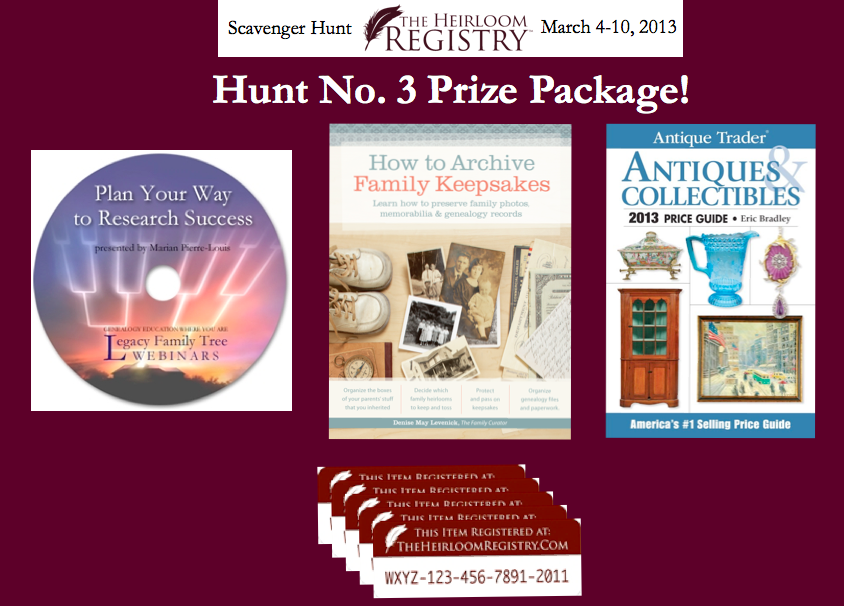 scavenger hunt, heirloom registry, houstory, family history, antiques