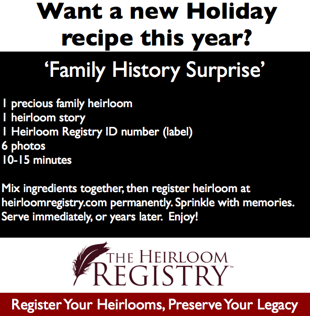 family history, heirlooms, family heirlooms