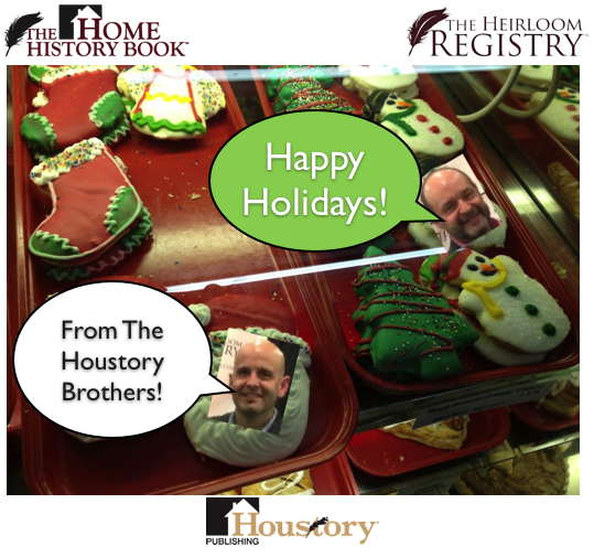 heirloom registry, houstory, home history book, holidays