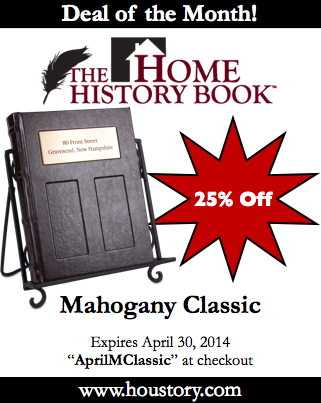 Home History Book Deluxe archival journal, deals of the month, Mahogany Classic