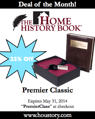 home history book, houstory, may 2014 deals of the month