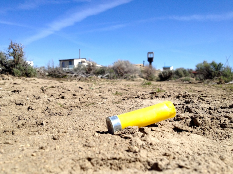 A shell casing near the homestead.