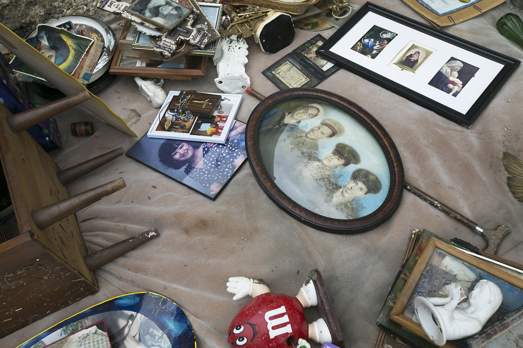 Family heirlooms after a flood. Photo courtesy of Ralph Barrera/Austin American-Statesman.