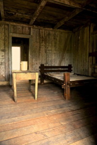 Interior of slave cabin on Whitney Plantation. [Photo Courtesy of Whitney Plantation]