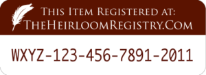 heirloom registry, houstory